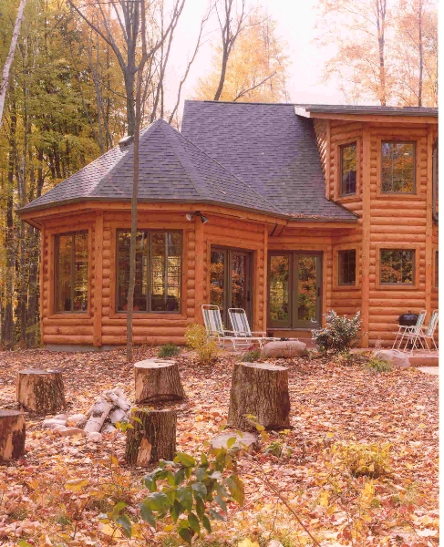 Sun Room Exterior: Expedition Log Homes Of Tri-States